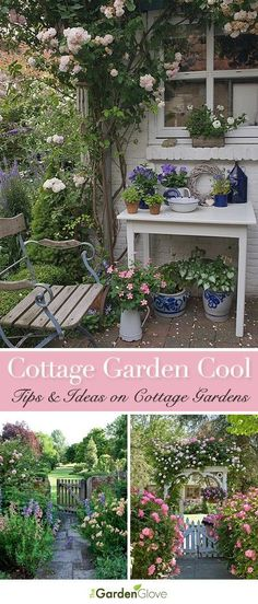 Great Tips and Ideas on Cottage Gardens! Great Tips and Ideas on Cottage Gardens! Herb Garden Design, Garden Types, Garden Paths, Fence Garden, Farm Gardens, Outdoor Gardens, English Cottage Gardens, Garden Cottage, Farmhouse Garden