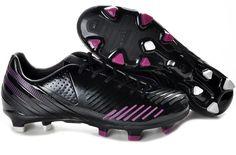 Adidas Predator LZ TRX FG Soccer Shoes Black Football Boots, Cheap Football Boots, Soccer Boots, Football Shoes, Nike Football, Pink And Black Adidas, Pink Black, Purple, Trx