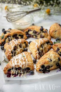 Blueberry Scones are one of our favorite treats! Serve them for breakfast or brunch, or pack as a school snack they're always a hit around our house! Bread Maker Recipes, Bakery Recipes, Brunch Recipes, Sweet Recipes, Breakfast Recipes, Dessert Recipes, Cooking Recipes, Desserts, Blueberry Scones Recipe