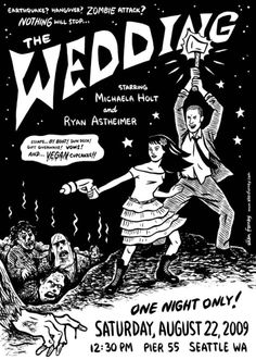 Hand Drawn Wedding Invite by Ellen Forney! Awesome!!!