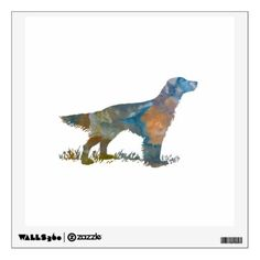 #rustic - #English Setter Wall Decal