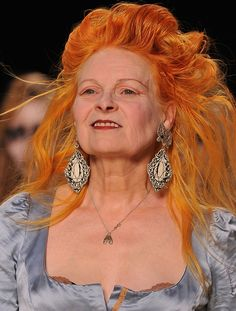 Vivienne Westwood on the runway at Paris Fashion Week for the RTW A/W 2011/12 collection