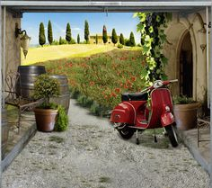 Fotoplane für Garagentor Bella Italia / Garage Mural Bella Italia