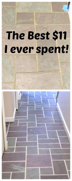 Slate floors made beautiful with Grout Renew