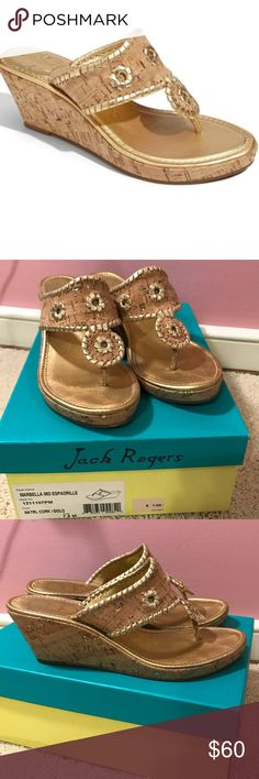 Shop Women's Jack Rogers Tan Gold size Wedges at a discounted price at Poshmark. Wedge Shoes, Boat Shoes, Jack Rogers Shoes, Palm Beach Sandals, Womens Shoes Wedges, Sperrys, Cork, Best Deals, Womens Fashion