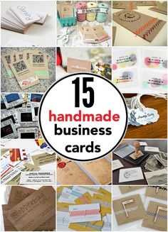 15 Handmade Business cards you can make yourself.