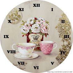 Tea Time Clock Face