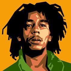 Reggae Music Wall Art - Digital Art - Bob Marley by Douglas Simonson Bob Marley Kunst, Bob Marley Art, Vector Portrait, Digital Portrait, Portrait Sketches, Digital Art, Bob Marley Painting, Bob Marley Tapestry, Rastafari Art