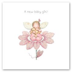 Cards » A new baby girl » A new baby girl - Berni Parker Designs