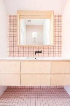 4 Innovative Tips AND Tricks: Bathroom Remodel Beach Doors master bathroom remodel dark.Bathroom Remodel Tips Toilets affordable bathroom remodel stainless steel. Bathroom Interior, Modern Bathroom, Small Bathroom, Master Bathroom, Pink Bathrooms, Bathroom Ideas, Minimalist Bathroom, Bathroom Wall, Houzz Bathroom