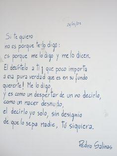 Pedro Salinas - Si te quiero