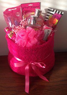 Pink Themed Gift Basket Birthday Holiday Celebrate Congratulation Present | eBay