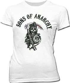 3660ad35e8a Sons of Anarchy Arched Reaper Juniors Fitted T-Shirt
