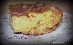 The Cat and the Cauldron: Pinterest Project #90 Fresh Peach Cake by Ina Garten