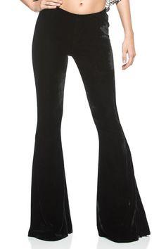 Black Velvet 70S Gypsy Goth Boho Plus Flare Bell Bottoms 134 Mv Pants Xl 2Xl 3Xl