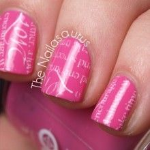 Pink and words nail