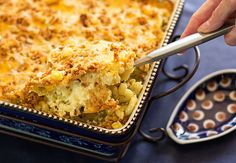 Calabacitas Macaroni & Cheese is a fusion of two comfort foods - mac & cheese with sauteed summer squash, corn and Hatch green chile. Macaroni Cheese, Mac And Cheese, Mexico Food, Stale Bread, Pepper Jack Cheese, Vegetarian Entrees, Cheese Recipes, Casserole Dishes
