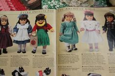 American Girl catalogs from Pleasant Company, 1991 and 1992.