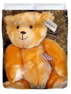 """Albert Teddy Bear Queen (88"""" x 88"""") Duvet Cover by Rumyana Whitcher"""