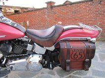 Borsa e sella per Softail - bag and leather saddle for Softail