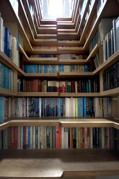 Books in Staircase - bedroom stairs?