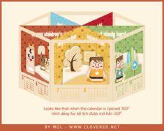2011 Pop up Calendar by Dolosan   Paper Kawaii