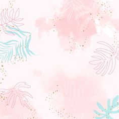 Pink leafy watercolor background vector | premium image by rawpixel.com / Aum Floral Watercolor Background, Background Drawing, Flower Background Wallpaper, Pastel Background, Scenery Wallpaper, Flower Backgrounds, Background Patterns, Abstract Backgrounds, Textured Background