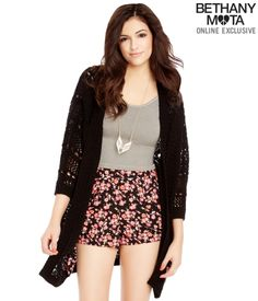 Looking cute... Sheer Cocoon Sweater - Bethany Mota Summer Collection at Aeropostale