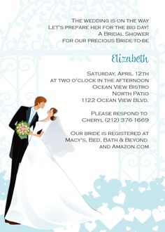 Bridal Shower Invitation – Kiss the Bride