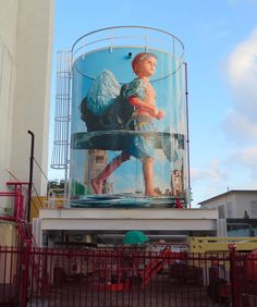 Meditative Murals by Fintan Magee Depict Everyday People Lost in Imaginative Moments Renaissance Paintings, Australian Artists, Graffiti, Public Art, Bachelor Of Fine Arts, Muralist, Art, Whimsical Paintings, Street Art
