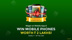 Wager the highest on Classic Rummy app and win latest mobile phones worth Rs. 2 Lakhs!