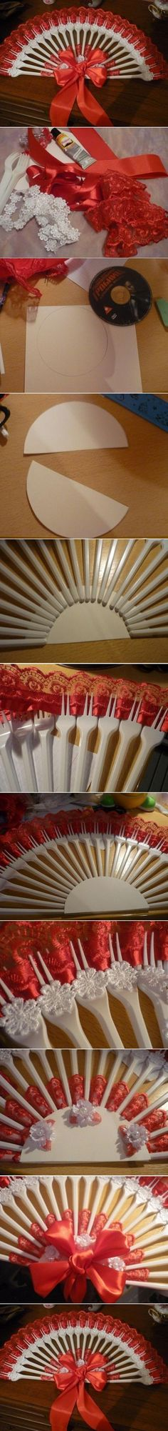 DIY Disposable Fork Fan DIY Disposable Fork Fan by diyforever