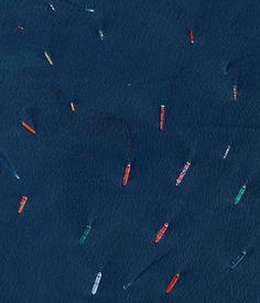 Boats entering Singapore [1757x2048]