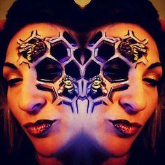 Beehive facepaint