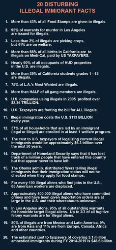 90 Miles From Tyranny : 20 Disturbing Illegal Immigration Facts. Truth Hurts, It Hurts, Hard Truth, Conservative Politics, God Bless America, Good To Know, Things To Think About, Knowledge, Thoughts