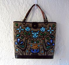 Enid Collins handbag // 1960s bucket purse // Pavan by BlueFennel, $175.00