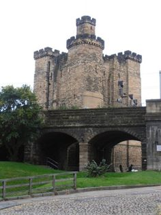 """Castle Keep Newcastle England - 1527 - When Sir William de Lisle, heidsman of a prominent English Reiver family  sometime ally of Liddesdale Reivers, was imprisoned in Newcastle - Liddesdale Reiver families, the Armstrongs  Elliots rode into town and freed him.  In his book, """"The Reivers, The Story of the Border Reivers,"""" Author Alistair Moffat writes, """"It was an act of amazing audacity - and self-confidence."""""""