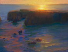 Late Afternoon Glare Over the Headlands, Mendocino California by Peter Adams