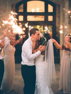 Sparklers! http://www.stylemepretty.com/georgia-weddings/2015/07/13/intimate-southern-wedding-centered-around-family/ | Photography: Simply Sarah - http://simplysarah.me/