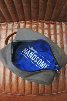 Hey Handsome Wash Bag - Grey