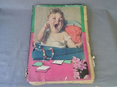 Vintage Scrapbook 1920s 1930s, 37 pages of O'Neill Kewpies, Plus Walt Disney Mickey Mouse, Pinocchio, The Gimmicks, Dionne Quintuplets by dandelionvintage on Etsy