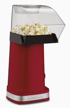 Cuisinart EasyPop Hot Air Popcorn Maker, Red Enjoy Healthier Popcorn Pop healthier popcorn with hot air! The Cuisinart EasyPop Hot Air Popcorn Maker is Popcorn Machine For Sale, Commercial Popcorn Machine, Hot Air Popcorn Popper, Air Popper, Healthy Popcorn, Popcorn Recipes, Healthy Gourmet, Best Popcorn Maker, Bucket Lists
