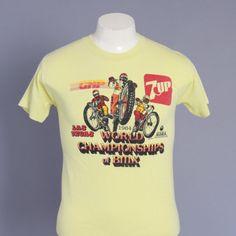 Vintage 80s BMX T-SHIRT / 1980s World Championship Dirt Bike Tee Tshirt Soft…