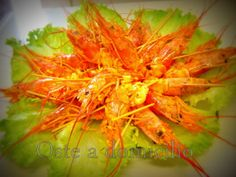 Gamberoni marinati agli agrumi con sale rosso