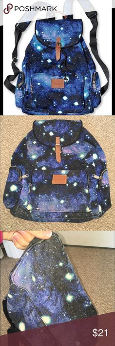 VS galaxy backpack This bag is a little worn and the main clip in the front 90453f026303b