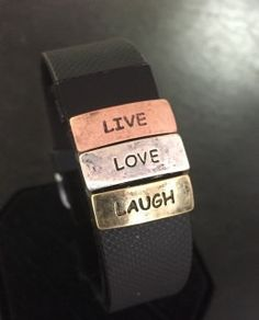Live Love Laugh Charm for Fitbit Charge/Charge HR by FitbandFun