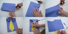 Fathers day shirt and tie card step-by-step