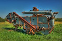 Antique Tractors, Old Tractors, Agricultural Implements, Women's Land Army, Combine Harvester, Land Girls, Old Farm Equipment, Down On The Farm, Vintage Farm