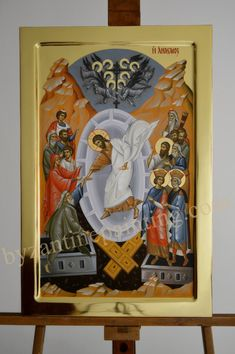 The Resurrection,Icon of Victory byzantin icon – Byzantine Icon Painting Christ Is Risen, Byzantine Icons, Religious Icons, Art Icon, Sgraffito, Traditional Paintings, Orthodox Icons, Painting Techniques, Painting On Wood