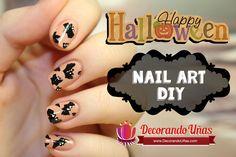 Uñas decoradas con murciélagos para halloween – Bat Nail Art DIY | Decoración de Uñas - Manicura y Nail Art
